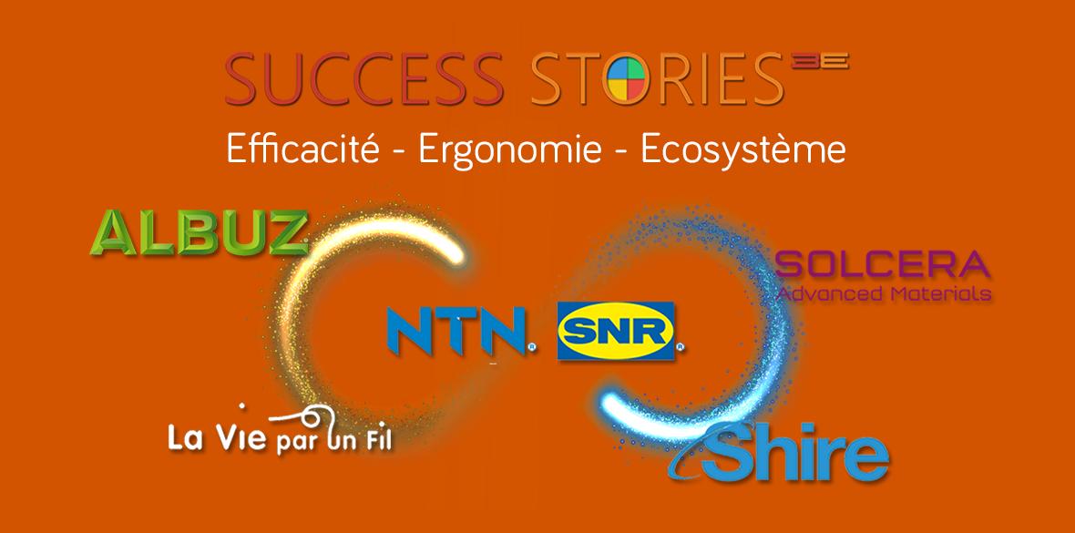 Success Stories: Shire (application mobile mobile stand-alone), Albuz & Solcera (application mobile intégrée Big Data), NTN-SNR (plateforme digitale Surface Pro/ Azure)