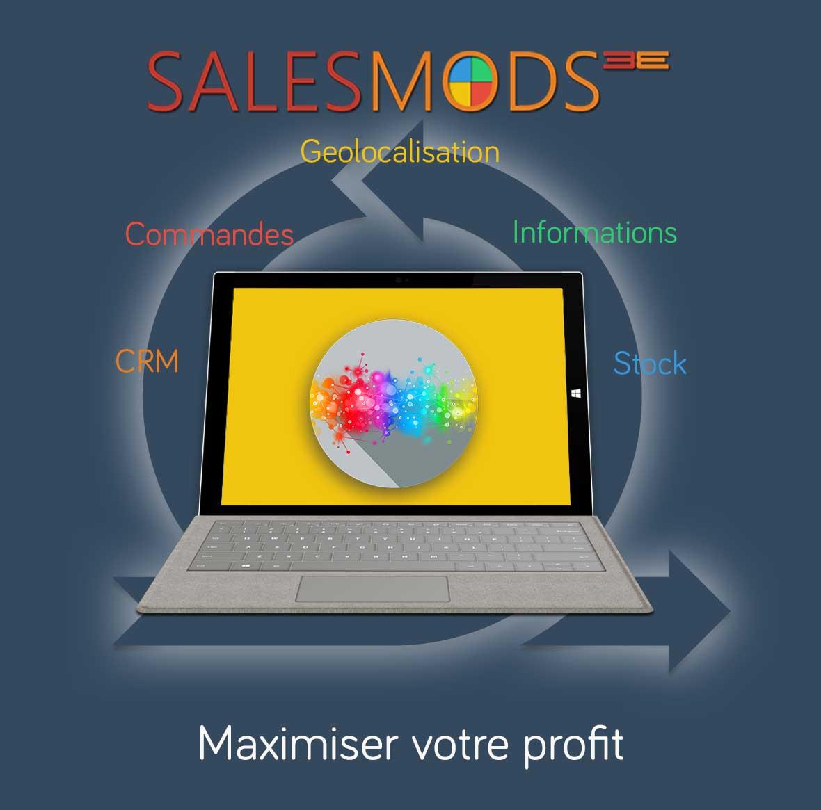 Plus d'information sur Vos Mods sur mesure dans SalesMods 3E: Intégrerez vos solutions IT existantes (ERP, CRM ...) pour afficher des informations supplémentaires qui augmentent la satisfaction client et vos ventes.
